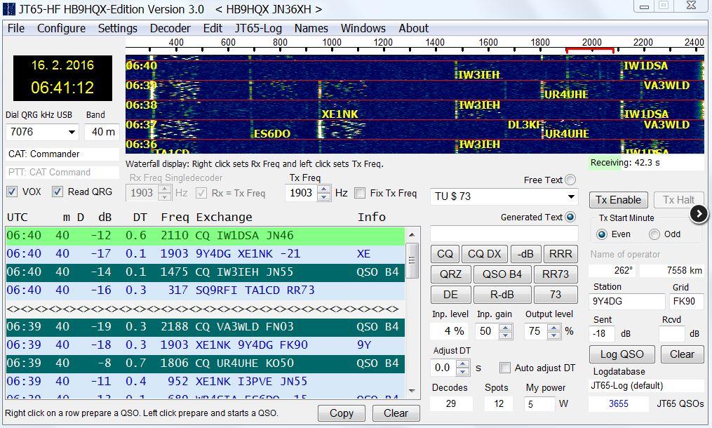 jt65hf software radio-amateur